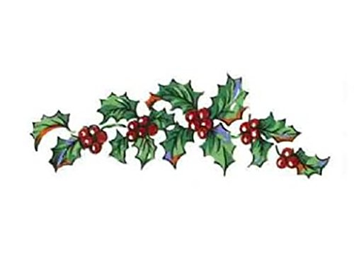 """Christmas Holly and Berries Item # 458 Waterslide Ceramic Decals By The Sheet (1"""" X 1/4"""" 492 pcs)"""