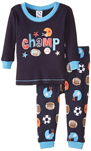 Gerber Baby Boys Champ 2 Piece Cotton Pajama, Sports, 12 Months