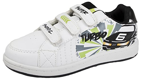 And Hook 8 GIRLS BOYS BOOTS 2 SPORTS White SIZE SHOES KIDS Black Supersonic PLIMSOLES TRAINERS PUMPS NEW SKATE Loop CqIX6wqF