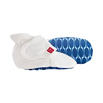 Goumikids - Goumiboots, Soft Stay On Booties Keeps Feet Warm and Adjusts to Fit as Baby Grows (Mod Blue, 0-3 Months)