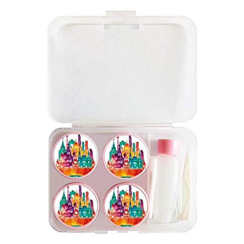 Moscow Cathedral Painting Russia Contact Lens Case Bulk Tweezers Container ()