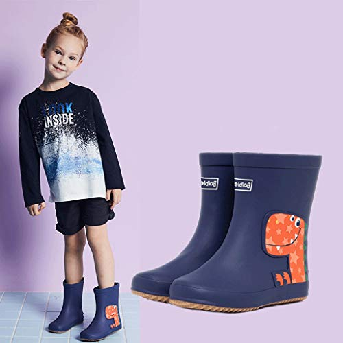 Rain Rain Seasons Girls and Boots Rubber Universal Dinosaur Boys Four Cartoon Blue Boots Animal Yqf1B