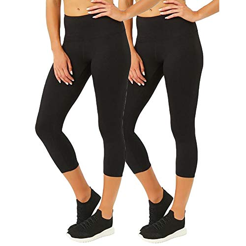 Plus Size High Waisted Leggings for Women Yoga Pants Seamless Capri Leggings Compression Workout Leggings ()