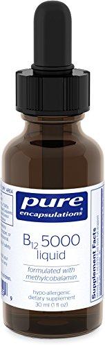Pure Encapsulations - B12 5000 Liquid - Hypoallergenic Dietary Supplement - 30 ml.