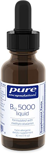 Pure Encapsulations - B12 5000 Liquid - 5,000 mcg Vitamin B12 (Methylcobalamin) Liquid for Nerve Health and Cognitive Function* - 30 ml