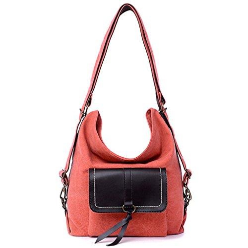 Sucastle Retro Tasche Mode-Tasche lässig Tasche Umhängetasche Umhängetasche Tragetasche Sucastle Farbe: Orange Größe: 38x30x15cm