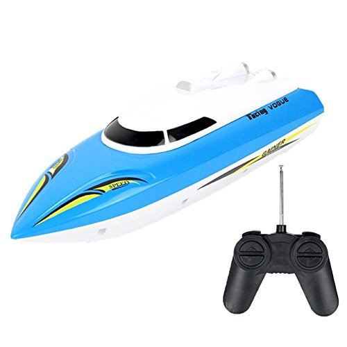 RC Speed Racing Boat Radio Remote Control RTR Electric Dual Motor Toy Boats Color Random by lanlan