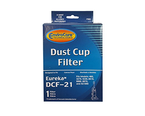 (3) Eureka DCF 21 Pleated Dust Cup HEPA w/activated Charcoal Vacuum Filter, Sanitaire Upright Bagless, Comfort Clean, Airspeed, Pet Lover Lite, Whirlwind, Expert Vacuum Cleaners, 68931A, 67821, 3276AZ 68931-2