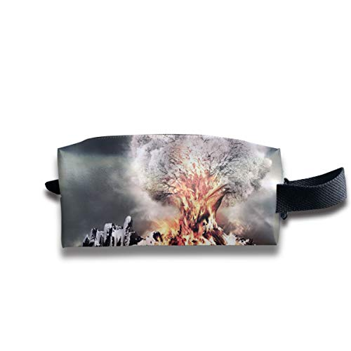 Small Toiletry Bag Volcano Eruption,Pencil Case,Travel Essentials Bag,Dopp Kit Bag For Men And Women With Handle -