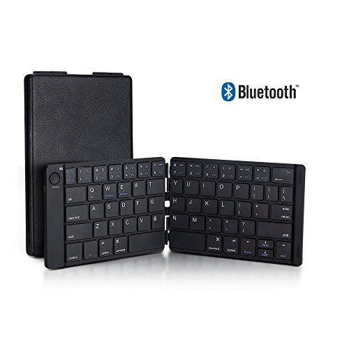 Foldable Bluetooth Keyboard Trendy Wag Portable Wireless Folding Rechargeable Pocket Size Full Size Ultra Slim for Windows Mac OS Android iOS PC iPad Samsung Tablet Smartphones by Trendy Wag
