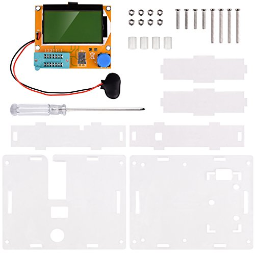 Multifunction Meter DIY kit, kuman Mega 328 Graphic transistor Tester, NPN PNP Diodes Triode Capacitor ESR SCR MOSFET Resistor Inductance LCD Display Checker with case and screwdriver K77 by Kuman (Image #1)
