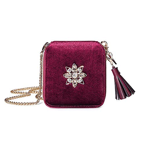 5 Walletcoloreverdemisura cmrosso a Mini New Messenger Diamond Baifuren Small Christmas tracolla Borsa Bag 112 9 D29IEHeWYb