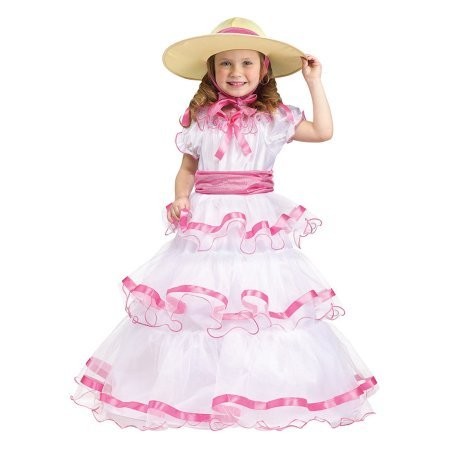 Poster Girl Costume (Toddler Sweet Southern Belle Costume Size XLarge 4-6)