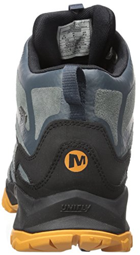 Merrell Hombres de mediana Capra Perno de cuero bota impermeable pizarra oscuro