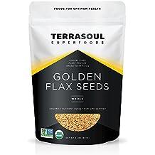 Terrasoul Superfoods Organic Golden Flax Seeds, 2 Pounds