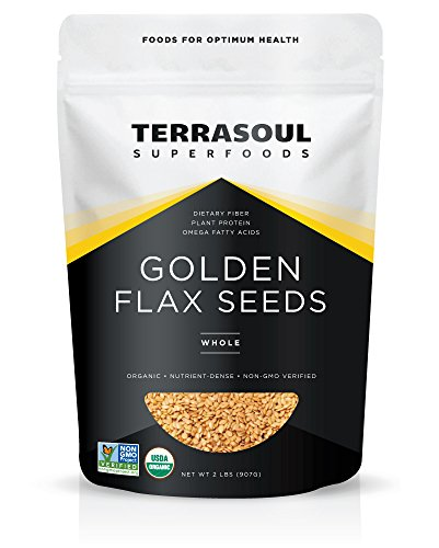 Terrasoul Superfoods Organic Golden Flax Seeds