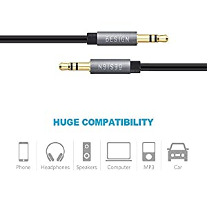 Besign Audio Cable Pack - 3.5mm Aux Cable, Male to Female Extension Audio Cable, Female (CTIA Standard) to 2 Male Headphone Mic Audio Y Splitter Cable, 3.5mm Male to 2 Port 3.5mm Female Audio Cable
