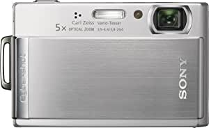 Sony Cybershot DSCT300 10.1MP Digital Camera with 5x Optical Zoom with Super Steady Shot (Silver)