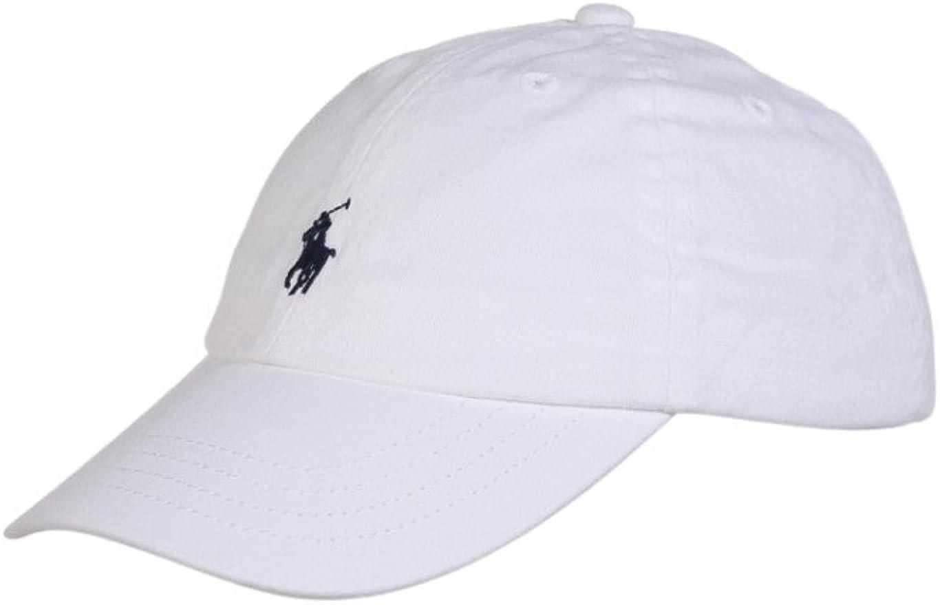 POLO RALPH LAUREN - CLSC CAP AC HAT - GORRA BLANCA NIÑO (4 AÑOS ...