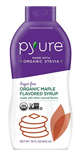 Pyure Organic Maple Flavored Syrup, Sugar Free, Low Net Carbs, Pancake Syrup, Keto, 14 Fluid Ounce (Best Tasting Pancake Syrup)