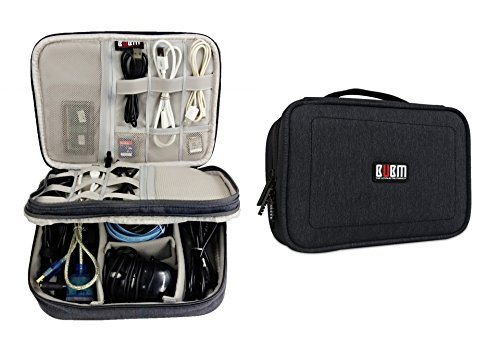 Travel Gear Electronics Accessories Organizer Storage Bag Large Size (Grey)