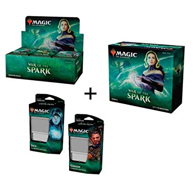 MTG Magic The Gathering War of The Spark Booster Box + Bundle + Both Planeswalker Decks
