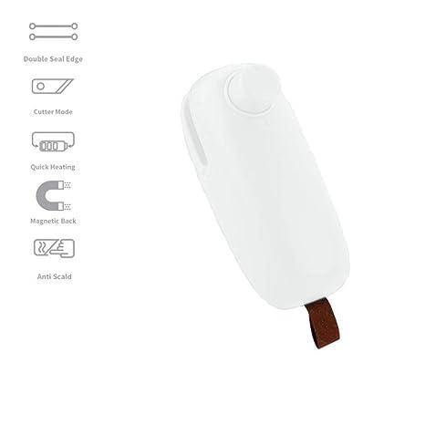 Sellador de bolsas, Enjoyfeel 2 en 1 Mini sellador térmico ...