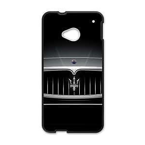 QQQO background d screen Hot sale Phone Case for HTC ONE M7 Black