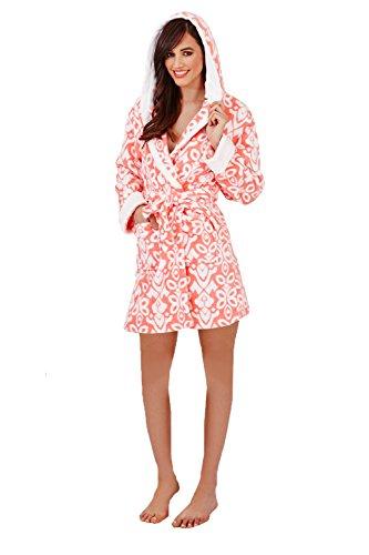 Coral Loungeable Morbido Super Hooded Pile Donna Elegante Da Vestaglia aar06