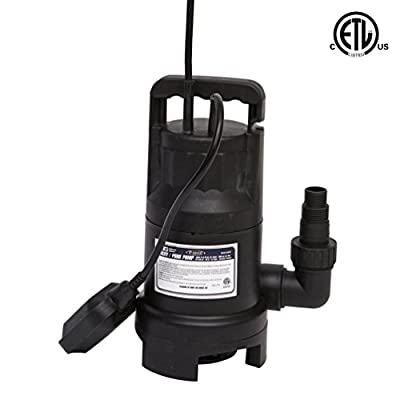 Fpower 3000GPH 1/2HP Clean Dirty Water Utility Submersible Pump