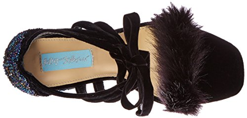 Bleu Par Betsey Johnson Robe Sb-luca Femme Sandale Velours Noir