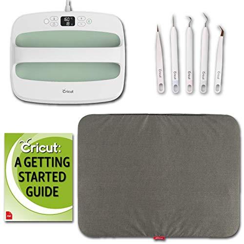 Cricut Mint EasyPress 2 Machine 12 x 10 and Accessories Bundle