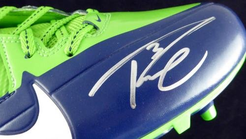 Russell Wilson Autographed Signed Nike Cleats Shoes Seahawks Rw Holo 124635 Autographed NFL Cleats