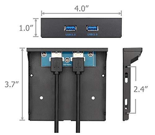Excelity 2 Ports USB 3.0 Front Panel Floppy Disk Bay 20 Pin Hub Bracket