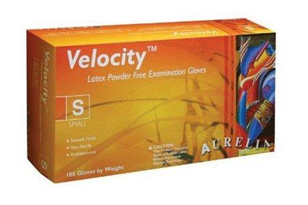 Supermax, Inc 28227 Aurelia Velocity PF Latex Gloves N/S Medium 100/Bx (Gloves Velocity)