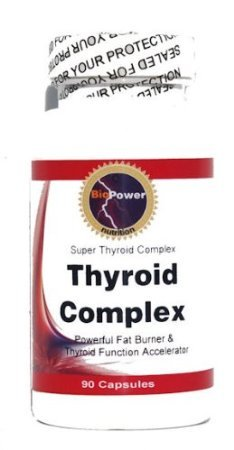 Complexe thyroïde # - 180 Capsules - Accelerator fonction thyroïdienne avec phosphate de calcium Guggelsterones Garcinia cambogia Phosphate dipotassique L-Tyrosine - Nutrition BioPower (2 bouteilles)