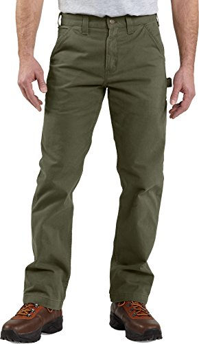Carhartt Men's Relaxed-Fit Washed Twill Dungaree Pant (Army Green 01, 34)