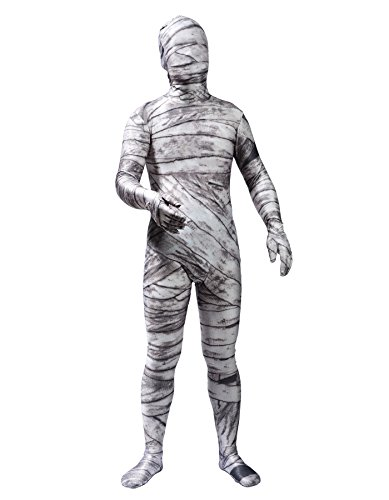 Mummy Dance Costume (Sheface Kids Spandex Mummy Zentai Full Bodysuit Halloween Costume (Kids Small, P04))