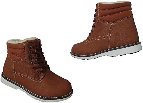 Jungen Boots Kinder Winter Schuhe Warmfutter Gr.26 - 31 Art.-Nr.2723 lt.braun