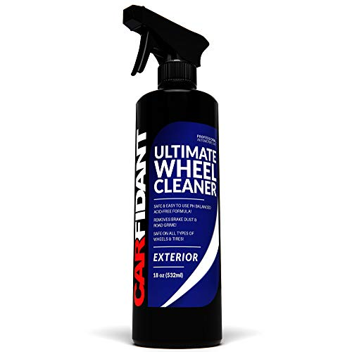 Carfidant Ultimate Wheel Cleaner Spray - Premium Rim & Tire Cleaner - Safe for all wheels and rims! - Removes Brake Dust! - Safe for Aluminum, Alloy, Mag, Chrome, Painted, Clearcoated, Polished, Plast (Best Alloy Wheel Cleaner)