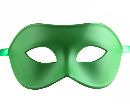 Luxury Mask Men's Venetian Party Masquerade Mask, Green, One Size -