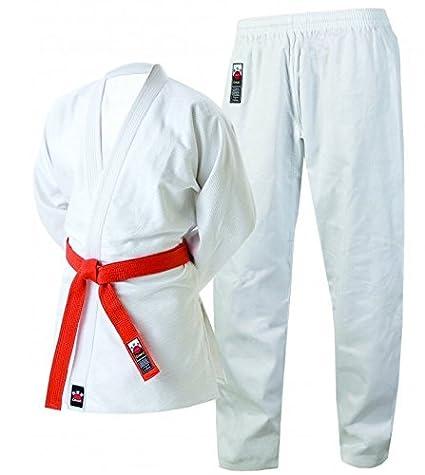 Amazon.com: CIMAC Giko de los hombres – Traje de judo Blanco ...