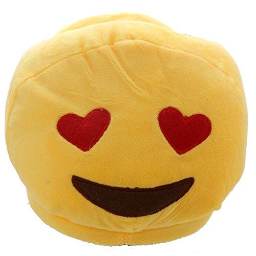 Pantofole Emoji Emoticon OCCHI A CUORE aperte dietro