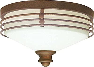 Volume Lighting V7352-31 1-Light Flush Mount Ceiling Fixture, Italian Dusk
