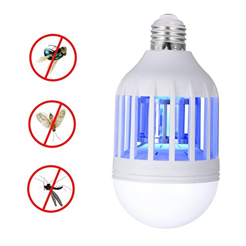 Spray Peaceful Garden (Jenifer Bug Zapper Light Bulb, Electronic Insect Killer, Mosquito Zapper Lamp, Fly Killer, Built in Insect Trap, 110V E26/E27 Light Bulb Socket Base for Home Indoor Outdoor Garden Patio Backyard)