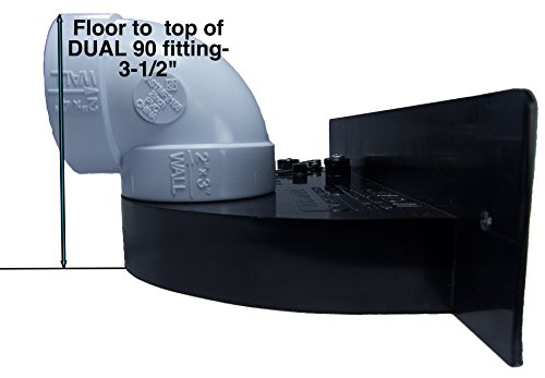 Central Vacuum VacPan - Automatic Dustpan for Built in Central Vacuum Systems - Under Counter or In-Wall Dust Pan for Central Vacuums - BLACK by Central/Built-in Vacuum System Inlet/Valve (Image #3)