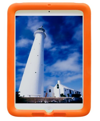 Bobj Rugged Case for iPad Air (not for iPad Air 2) - BobjGear Custom Fit - Patented Venting - Sound Amplification - BobjBounces Kid Friendly (Outrageous Orange)
