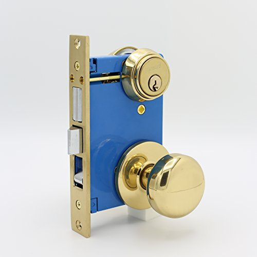 Knob Left Hand Polished Brass - 7