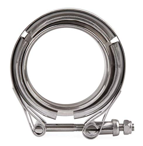 Down Pipe Anngo 3.5 Inch V Band Clamp with CNC Stainless Steel Flanges Exhaust Systems Downpipe V-Band Flange Kit For Performance Exhaust Pipes Perfect for Turbo 3in SS Vband Downpipes