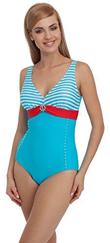 Chiaro 1Q51 Bagno da Style Rosso Donna Merry Costume Blu w6q0XXO